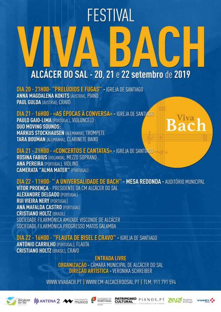 Festival Viva Bach 2019 - Alcácer do Sal - 20, 21 e 22 de setembro de 2019